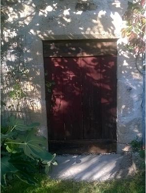 porte rénovée côté jardin
