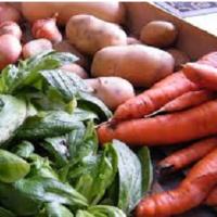 Feng Shui santé, alimentation saine, légumes et fruits de saison.