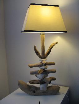 lampe réalisée par Christian