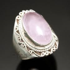 bague en quartz rose Karuni