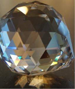 l' Energie au bureau, posez un cristal à facettes.